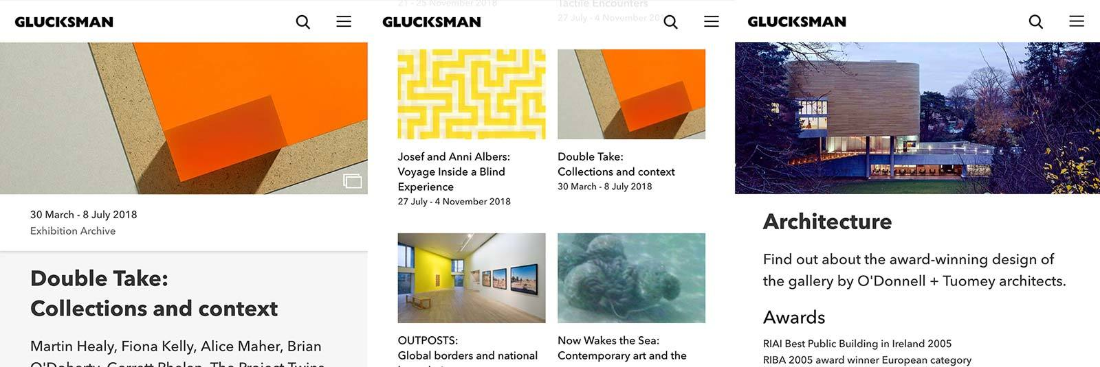 The Glucksman Website Design